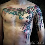 phoenix tattoo on his chest - a photo of the finished tattoo 11022016 2