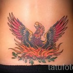 phoenix tattoo on the lower back - a photo of the finished tattoo 11022016 1
