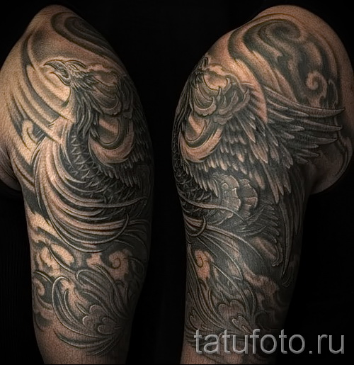 phoenix tattoo sleeve - a photo of the finished tattoo on 11022016 1