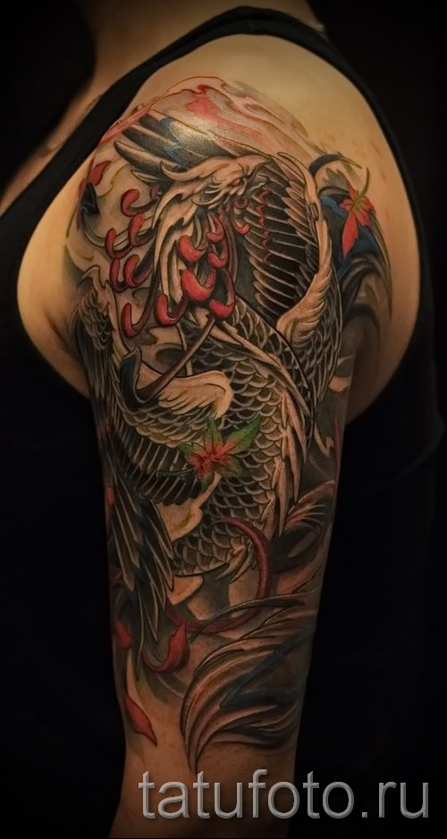 phoenix tattoo sleeve - a photo of the finished tattoo on 11022016 2