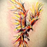phoenix tattoo watercolor - photo of the finished tattoo 11022016 3