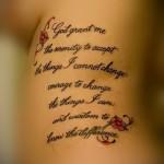 prière tatouage sur les côtes - une photo avec un tatouage sur l'exemple 03022016 2