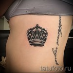 tatouage sur les bords de la couronne - photo avec un exemple d'un tatouage 03022016 3