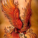 tattoo fire phoenix - a photo of the finished tattoo on 11022016 2