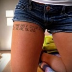 tattoo lettering on the thigh - examples of finished tattoo photos 01022016 6