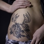 tattoo on her hip deer 1