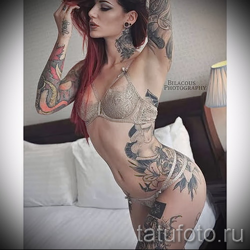 tattoo on her hip girls pictures - examples of finished tattoo photos 01022016 2