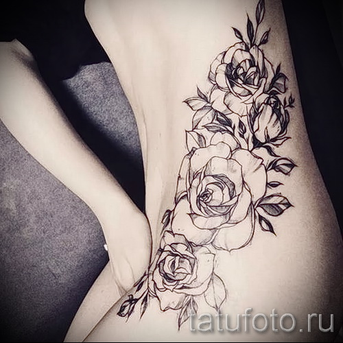 tattoo on her hip girls pictures - examples of finished tattoo photos 01022016 3