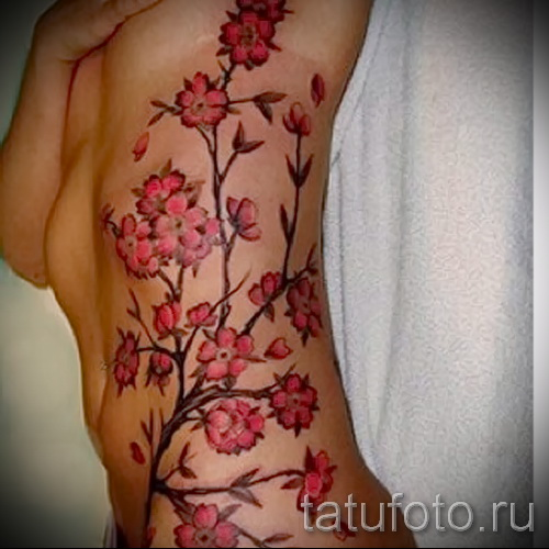 tattoo on the ribs cherry - Photo example of a tattoo on 03022016 1