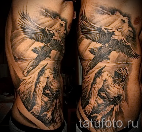 tattoo on the ribs the angel - picture with an example of a tattoo 03022016 1