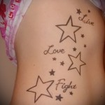 tattoo on the ribs the star - Photo example of a tattoo on 03022016 1