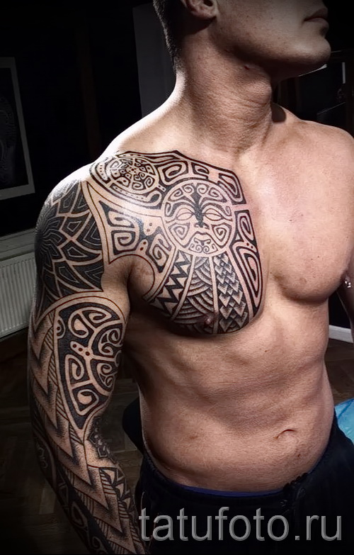 tattoo pattern on the chest - to select a photo example of 28022016 1