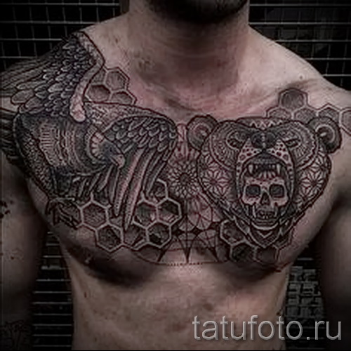 tattoo pattern on the chest - to select a photo example of 28022016 3
