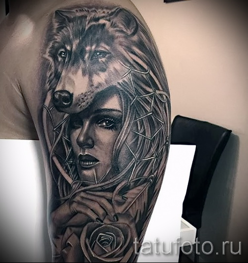 wolf tattoo pattern - Photo example for the selection of 28022016 3