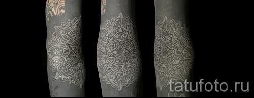 белая мандала тату - фото с вариантом готового рисунка от 29032016 5