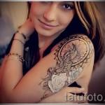 белые тату для девушек - фото с вариантом готового рисунка от 29032016 9