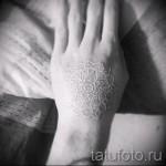 белые тату на руке - фото с вариантом готового рисунка от 29032016 5