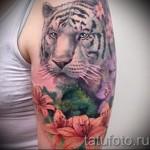 белый тигр тату - фото с вариантом готового рисунка от 29032016 1