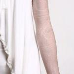 рукава тату белые - фото с вариантом готового рисунка от 29032016 4