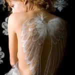 тату белые крылья - фото с вариантом готового рисунка от 29032016 4