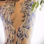 тату белые крылья - фото с вариантом готового рисунка от 29032016 5