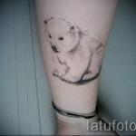 тату белый медведь - фото с вариантом готового рисунка от 29032016 2