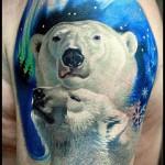 тату белый медведь - фото с вариантом готового рисунка от 29032016 3