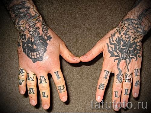 тату на кисти руки надписи - фотографии и примеры от 01032016 28