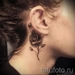 тату на шее 3д - пример фотографии готовой татуировки от 02032016 1