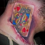 тату на шее 3д - пример фотографии готовой татуировки от 02032016 6