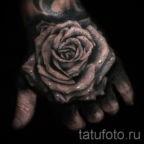 тату роза на кисти - фотографии и примеры от 01032016 11