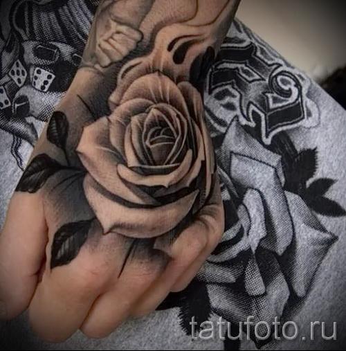 тату роза на кисти - фотографии и примеры от 01032016 7
