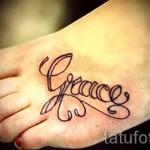 тату с именем ребенка - фото пример готовой татуировки от 06032016 1