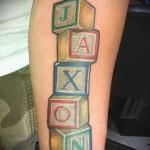 тату с именем ребенка - фото пример готовой татуировки от 06032016 14