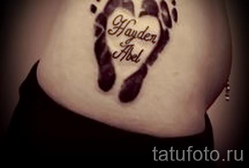 тату с именем ребенка - фото пример готовой татуировки от 06032016 4