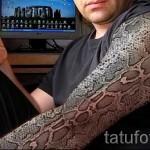 тату 3д змея на руке фото - пример фотографии готовой татуировки от 02032016 4