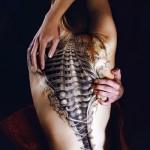 3д татуировки для девушек - пример фотографии готовой татуировки от 02032016 12