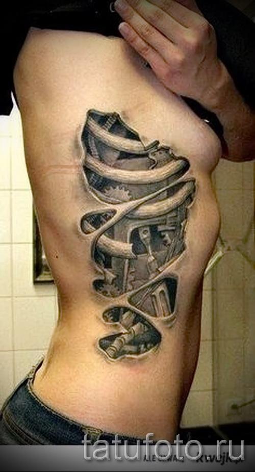 3д татуировки для девушек - пример фотографии готовой татуировки от 02032016 19