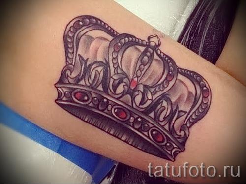 3д тату корона - пример фотографии готовой татуировки от 02032016 2