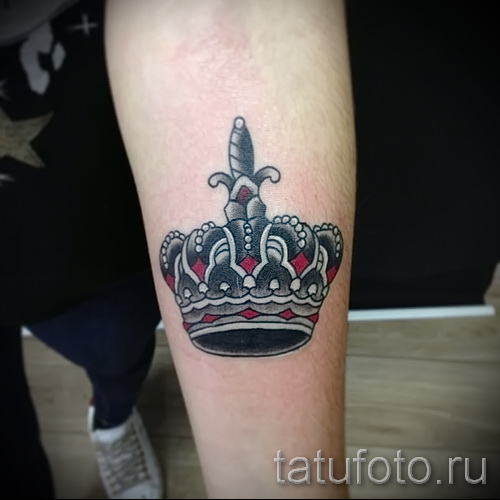 3д тату корона - пример фотографии готовой татуировки от 02032016 3