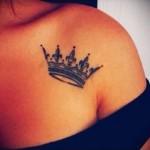 3д тату корона - пример фотографии готовой татуировки от 02032016 5