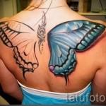3д тату крылья - пример фотографии готовой татуировки от 02032016 5