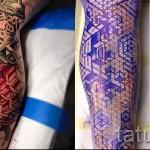 3д тату на ноге - пример фотографии готовой татуировки от 02032016 6