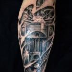 3д тату на ноге - пример фотографии готовой татуировки от 02032016 7