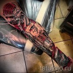 3д тату на ноге - пример фотографии готовой татуировки от 02032016 8