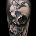 3д тату на ноге - пример фотографии готовой татуировки от 02032016 9