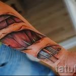 3д тату на предплечье - пример фотографии готовой татуировки от 02032016 1