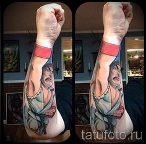 3д тату на предплечье - пример фотографии готовой татуировки от 02032016 3