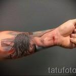 3д тату на предплечье - пример фотографии готовой татуировки от 02032016 4