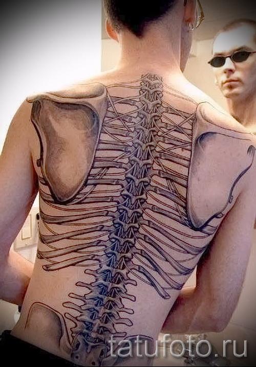 3д тату на спине - пример фотографии готовой татуировки от 02032016 1